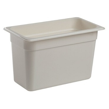 Cambro 38CW148 - Food Pan, Plastic, 1/3 Size, White (Case of 6)