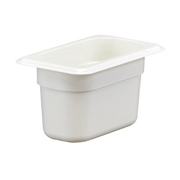 Cambro 94CW148 - Food Pan, Plastic, 1/9 Size, White (Case of 6)