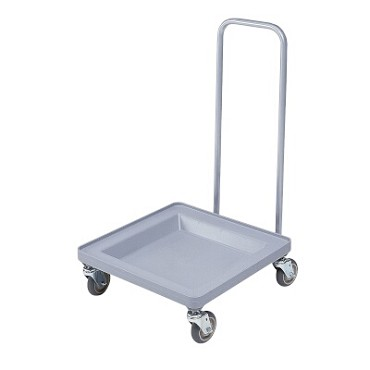 "Cambro CDR2020H151 - Camdolly for Camracks, 23""L x 21""W x 37""H, with handle, soft gray"