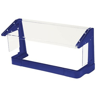 Cambro FSG720186 - Sneeze Guard, Free Standing, Single Service, Navy Blue