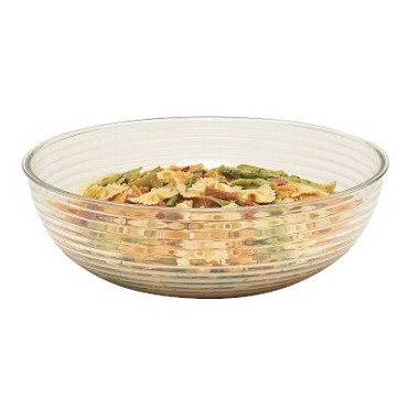 Cambro RSB23CW135 - Round Ribbed Bowl, 40 Quart, Clear (Case of 4)
