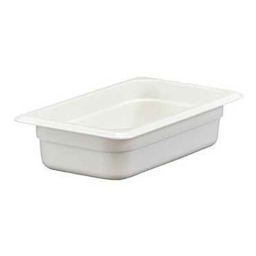 Cambro 42CW148 - Food Pan, Plastic, 1/4 Size, White (Case of 6)