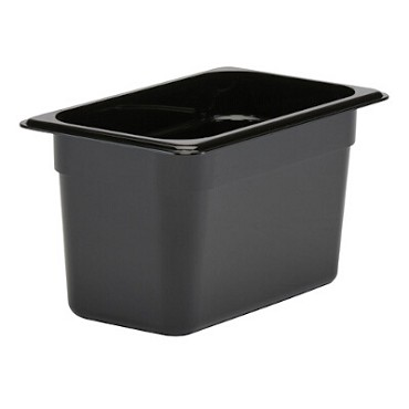 Cambro 46CW110 - Food Pan, Plastic, 1/4 Size, Black (Case of 6)