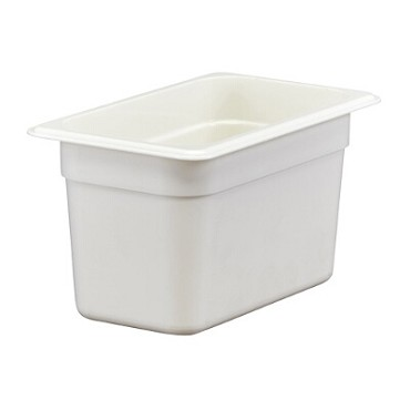 Cambro 46CW148 - Food Pan, Plastic, 1/4 Size, White (Case of 6)