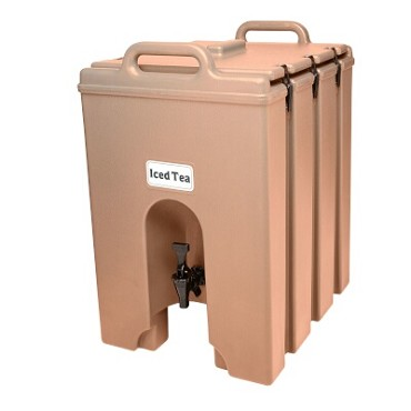 "Cambro 1000LCD157 - Beverage Carrier, 11 gallon, 16""W x 20""D x 24""H, insulated plastic, coffee beige"