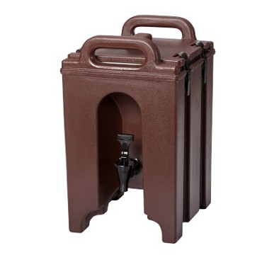 "Cambro 100LCD131 - Beverage Carrier, 1-1/2 gallon, 10""W x 11""D x 17""H, insulated plastic, dark brown"