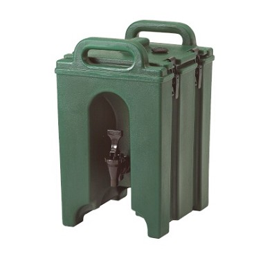 "Cambro 100LCD519 - Beverage Carrier, 1-1/2 gallon, 10""W x 11""D x 17""H, insulated plastic, Kentucky green"