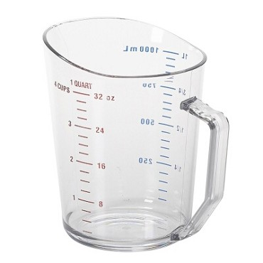 Cambro 100MCCW135 - Measuring Cup, 1 qt., polycarbonate, clear