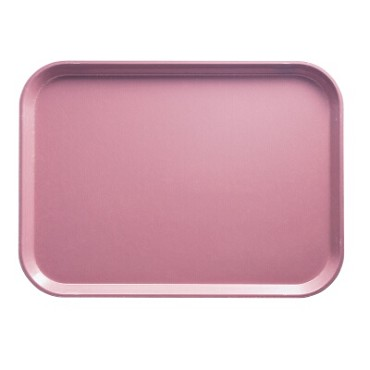 "Cambro 1014FF409 - Fast Food Tray, 10-7/16"" x 13-9/16"", rectangular, blush, (Case of 24)"
