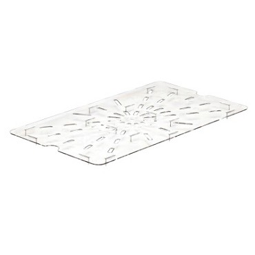 Cambro 10CWD135 - Drain Shelf, full size, for 12CW, 14CW, 16CW & 18CW, clear, (Case of 6)