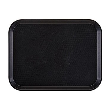 "Cambro 1216FF110 - Fast Food Tray, 11-7/8"" x 16-1/8"", rectangular, black, (Case of 24)"