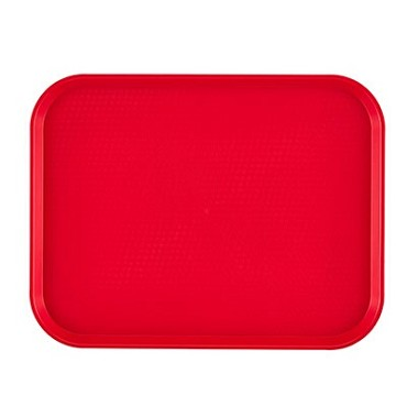 "Cambro 1216FF163 - Fast Food Tray, 11-7/8"" x 16-1/8"", rectangular, red, (Case of 24)"