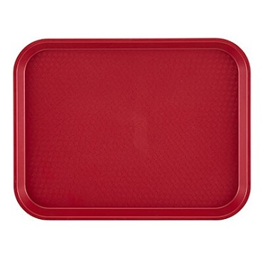 "Cambro 1216FF416 - Fast Food Tray, 11-7/8"" x 16-1/8"", rectangular, cranberry, (Case of 24)"
