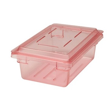 "Cambro 1218CCW467 - Cover, food storage, flat, 12"" x 18"", polycarbonate, safety red, (Case of 6)"