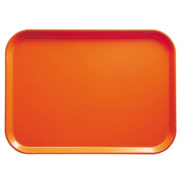 "Cambro 1418220 - Camtray, rectangular, 14"" x 18"", citrus orange, (Case of 12)"