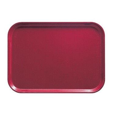 "Cambro 1418505 - Camtray, rectangular, 14"" x 18"", cherry red, (Case of 12)"