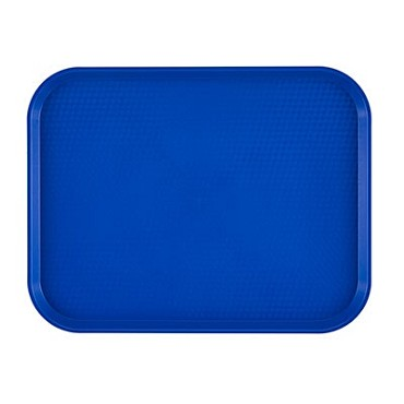 "Cambro 1418FF186 - Fast Food Tray, 13-13/16"" x 17-3/4"", rectangular, navy blue, (Case of 12)"