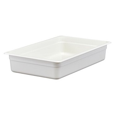 "Cambro 14CW148 - Food Pan, 13.7 qt. capacity, 4"" deep, full size, polycarbonate, white, (Case of 6)"