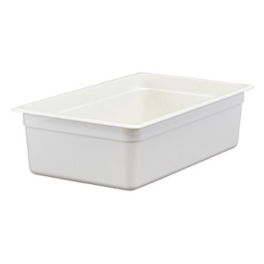 "Cambro 16CW148 - Food Pan, 20.6 qt. capacity, 6"" deep, full size, polycarbonate, white, (Case of 6)"