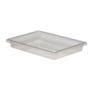 "Cambro 18263CW135 - Food Storage Container, 18"" x 26"" x 3"", 5 gallon, clear, (Case of 6)"