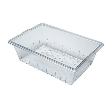 "Cambro 18268CLRCW135 - Colander, 8"" deep, fits 18"" x 26"" x 9"" and deeper, clear"