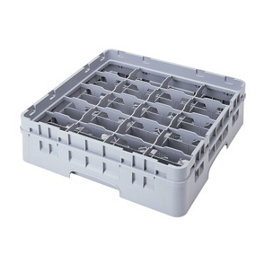 "Cambro 20C414151 - Cup Rack, with extender, 19"" x 19"" x 5"", (20) compartments, soft gray, (Case of 5)"