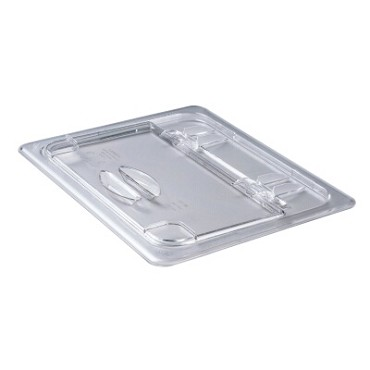 Cambro 20CWL135 - Food Pan Cover, 1/2 size, hinged, polycarbonate, clear, (Case of 6)