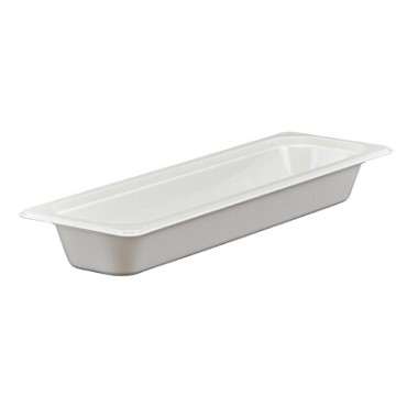 "Cambro 22LPCW148 - Food Pan, 3.2 qt. capacity, 2-1/2"" deep, 1/2 size long, polycarbonate, white, (Case of 6)"