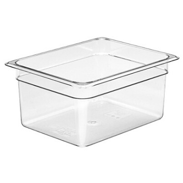 "Cambro 26CW135 - Food Pan, 9.4 qt. capacity, 6"" deep, 1/2 size, polycarbonate, clear"
