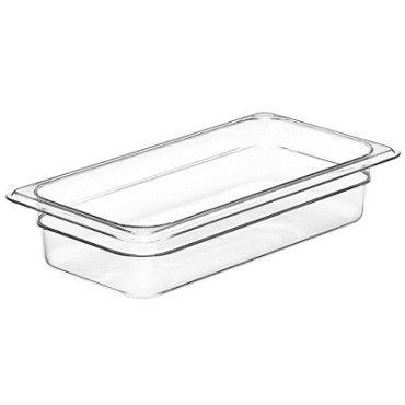 "Cambro 32CW135 - Food Pan, 2.5 qt. capacity, 2-1/2"" deep, 1/3 size, polycarbonate, clear"