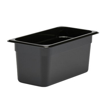 "Cambro 36CW110 - Food Pan, 5.6 qt. capacity, 6"" deep, 1/3 size, polycarbonate, black"