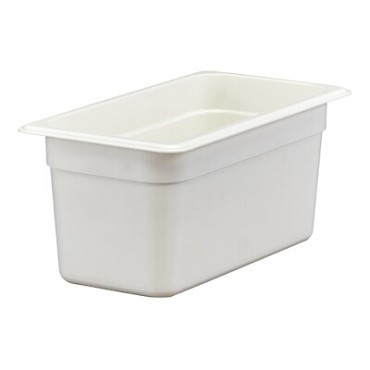 "Cambro 36CW148 - Food Pan, 5.6 qt. capacity, 6"" deep, 1/3 size, polycarbonate, white, (Case of 6)"