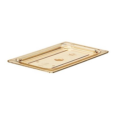 Cambro 40HPC150 - Cover, high heat, 1/4 size, flat, amber