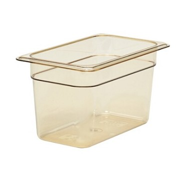 "Cambro 46HP150 - High Heat Food Pan, 1/4 size, 6"" deep, amber, (Case of 6)"