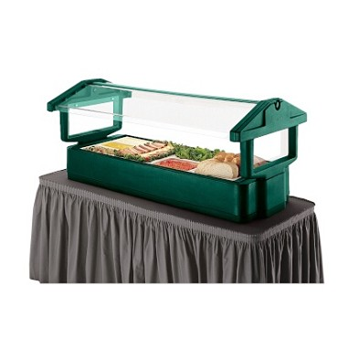 "Cambro 4FBRTT519 - Table Top Food Bar, 51""L x 33""W x 27""H, with iced cold pan, 3-pan size, green"