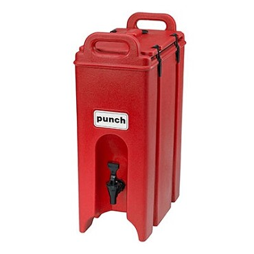 "Cambro 500LCD158 - Beverage Carrier, 4 gallon, 9""W x 16""D x 24""H, insulated plastic, hot red"