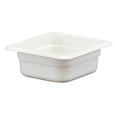 "Cambro 62CW148 - Food Pan, 1.1 qt. capacity, 2-1/2"" deep, 1/6 size, polycarbonate, white, (Case of 6)"