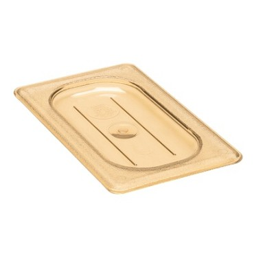 Cambro 90HPC150 - H-Pan Cover, high heat, 1/9 size, flat, -40°F to 300°F, amber, (Case of 6)