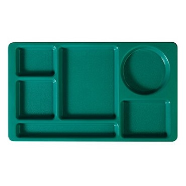 "Cambro 915CW414 - Compartment Tray, 6-compartment, 8-3/4"" x 15"", teal, (Case of 24)"