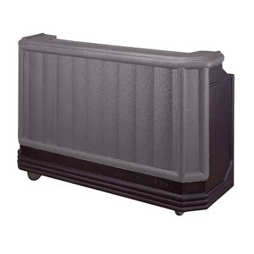 "Cambro BAR730DX420 - Portable Bar, 72""L x 26""W x 48""H, with cold plate, 80 lb. ice sink, granite gray/black"