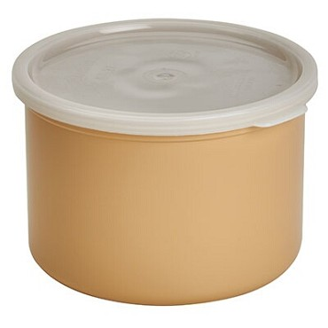 "Cambro CP15133 - Crock, 1.5 qt., 6-5/8"" dia. x 4-5/16""H, round, with lid, beige"