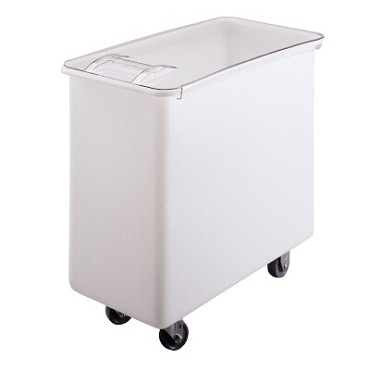 Cambro IB36148 - Ingredient Bin, mobile, 34 gallon, sliding cover, (4) casters, white with clear cover