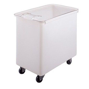Cambro IB44148 - Ingredient Bin, mobile, 42-1/2 gallon, sliding cover, (4) casters, white with clear cover