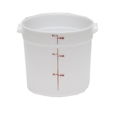 "Cambro RFS6148 - Storage Container, round, 6 qt., 9"" dia. x 7""H, natural white"