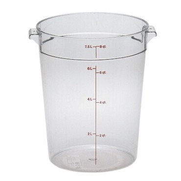 "Cambro RFSCW8135 - Storage Container, round, 8 qt., 9-15/16"" dia. x 10-7/8""H, clear"