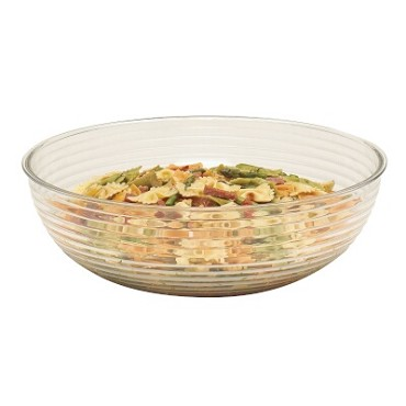 "Cambro RSB18CW135 - Bowl, 20.2 qt., 18"" dia., round, ribbed, clear, (Case of 4)"