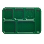 Cambro 10146CW119 Penny Saver - 6 Compartment Serving Tray in Green (Case of 24)