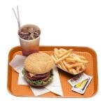 Cambro 1014FF166 - Fast Food Tray, Textured, Orange (Case of 24)