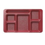 Cambro 1596CP416 Penny Saver - 6 Compartment Serving Tray in Cranberry (Case of 24)