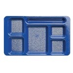 Cambro 1596CW186 Penny Saver - 6 Compartment Serving Tray in Navy Blue (Case of 24)
